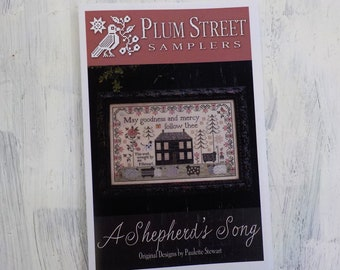 A Shepherd's Song by Plum Street Samplers...cross stitch pattern, house cross stitch