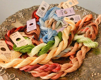Butterscotch Tapestry Thread Pack of 10 skeins of Edmar Thread.