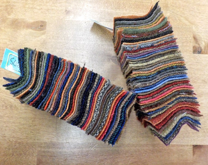 In the Patch...wool Smidgens...50--2 1/2 inch wool squares...dark pack