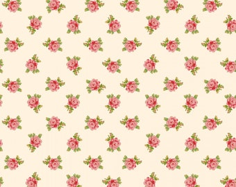 Sweet Beginning cream small floral MAS10013-E by Jera Brandvig of Quilting in the Rain for Maywood Studios
