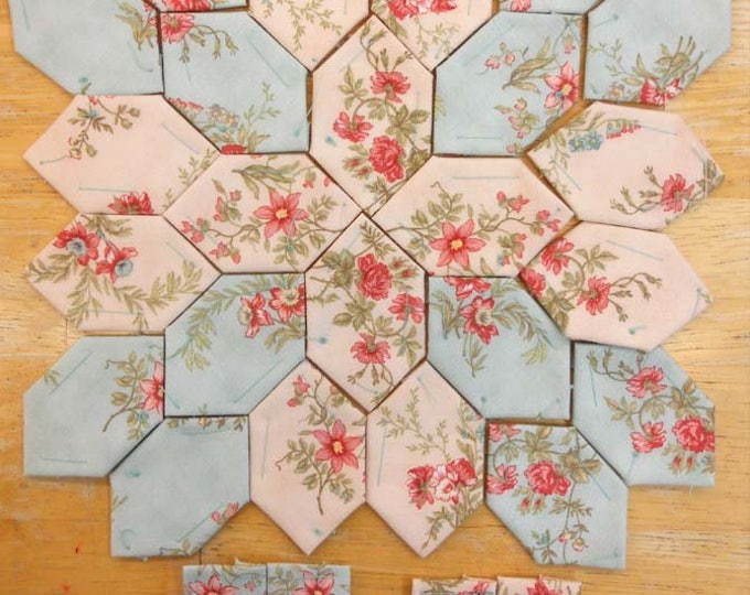 Lucy Boston Patchwork of the Crosses summer cottage block kit #18