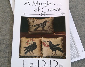 A Murder...of Crows by La-D-Da...cross stitch pattern