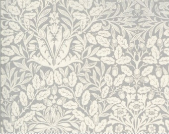 Dover Acorn Damask Grey 18701 13 by Brenda Riddle for Moda Fabrics