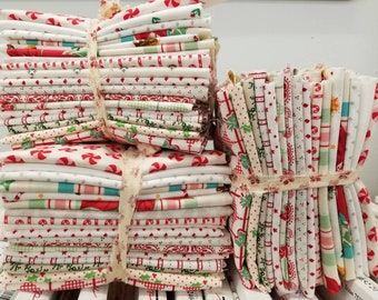 Christmas Low Volume...18 fat quarter bundle of low volume Christmas prints...exclusive grouping
