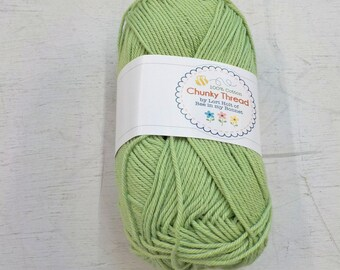 Chunky Thread by Lori Holt of Bee in my Bonnet...spring green, 50 grams, 140 yards, 128 meters