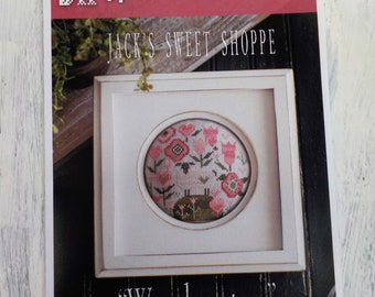 Woolemina, Jack's Sweet Shoppe, by Plum Street Samplers...cross stitch pattern, spring summer cross stitch