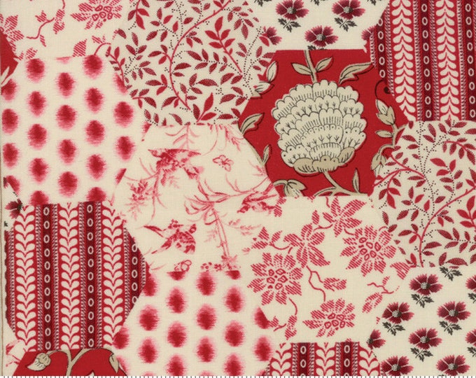 La Vie En Rouge Garance 13820 13 by French General for Moda Fabrics