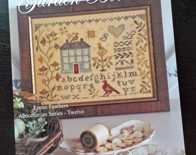 Garden Borders, Loose Feathers Abecedarian series pattern 12 by Blackbird Designs...cross-stitch design