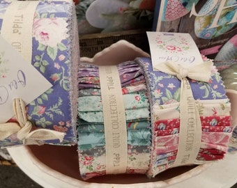 Old Rose 2 1/2 inch strip roll...40 strips...a Tilda Collection designed by Tone Finnanger