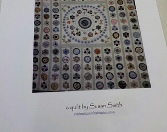 The Prince Quilt pattern...pattern designed by Susan Smith...complete pattern and hexagon acrylic