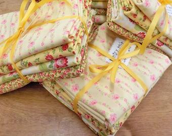 Pantry Pack:  Banana Split....4--1/2 yards of yellow prints by Brenda Riddle