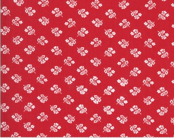 Sophie Small Floral Rosey Red 18712 16 by Brenda Riddle for Moda Fabrics