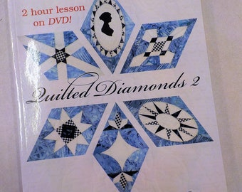 Quilted Diamonds 2, more Austen-tatious diamonds to hand piece, by Linda Franz of Inklingo