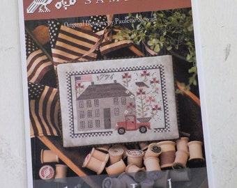 Liberty Lodge by Plum Street Samplers...cross stitch pattern, house cross stitch