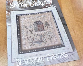 Snow Garden, Anniversaries of the Heart Pattern 1, by Blackbird Designs...cross-stitch design