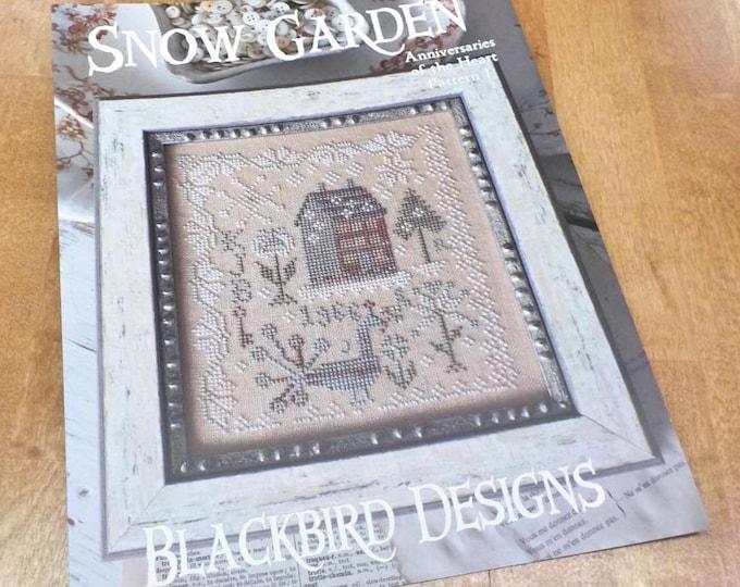 Snow Garden, Anniversaries of the Heart Pattern 1, by Blackbird Designs...cross-stitch design