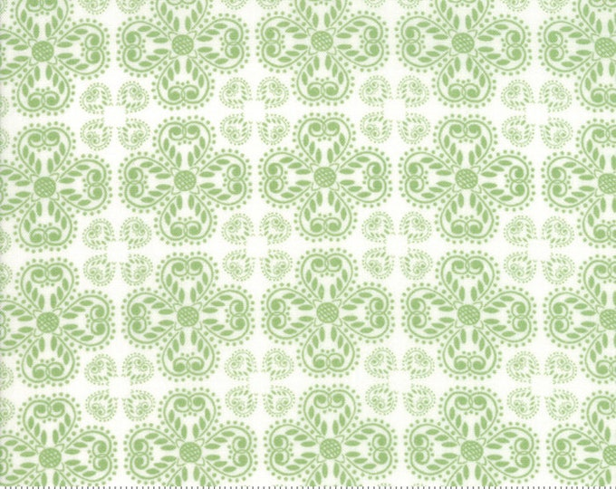 Good Tidings Pine/Linen White 18662-14 by Brenda Riddle for moda fabrics