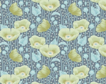 Gardenlife Poppies Grey Green..a Tilda Collection designed by Tone Finnanger