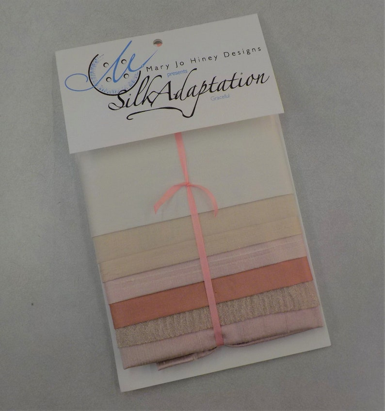 Graceful...7 piece silk pack...by MJ Hiney...hand dyed embroidery ribbon embroidery crazy quilting