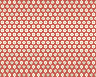 Chick-A-Doodle Doo red flour sack CD21707 by Poppie Cotton