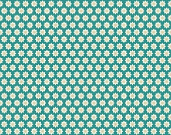 Chick-A-Doodle Doo teal flour sack CD21708 by Poppie Cotton