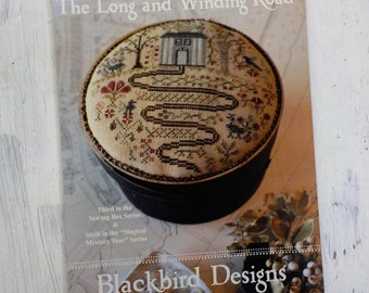 """The Long and Winding Road, """"Third in the Sewing Box Series"""" and """"Magical Mystery Tour"""" Series #6, by Blackbird Designs...cross-stitch design"""