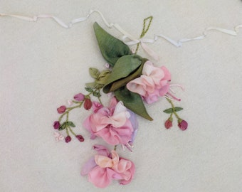 Fuchsias by MJ Hiney...the Ribbon Muse...complete kit with instructions