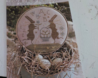 Spring Frolic at Bunny Hill by Brenda Gervais of With Thy Needle & Thread...cross-stitch design