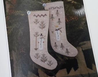 Wintertide Friends by Plum Street Samplers...cross stitch pattern, Christmas cross stitch, winter cross stitch