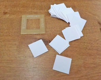 Squares, 1 inch...150 pieces, laser cut...acrylic template