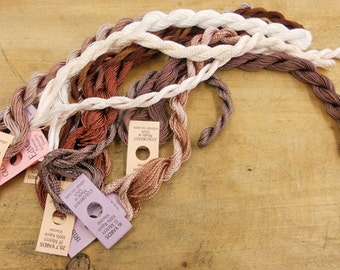 Coconut Mocha Thread Pack of 10 skeins of Edmar Thread.