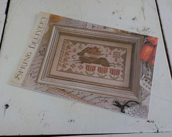 Spring Delivery by Brenda Gervais of With Thy Needle & Thread...cross-stitch design