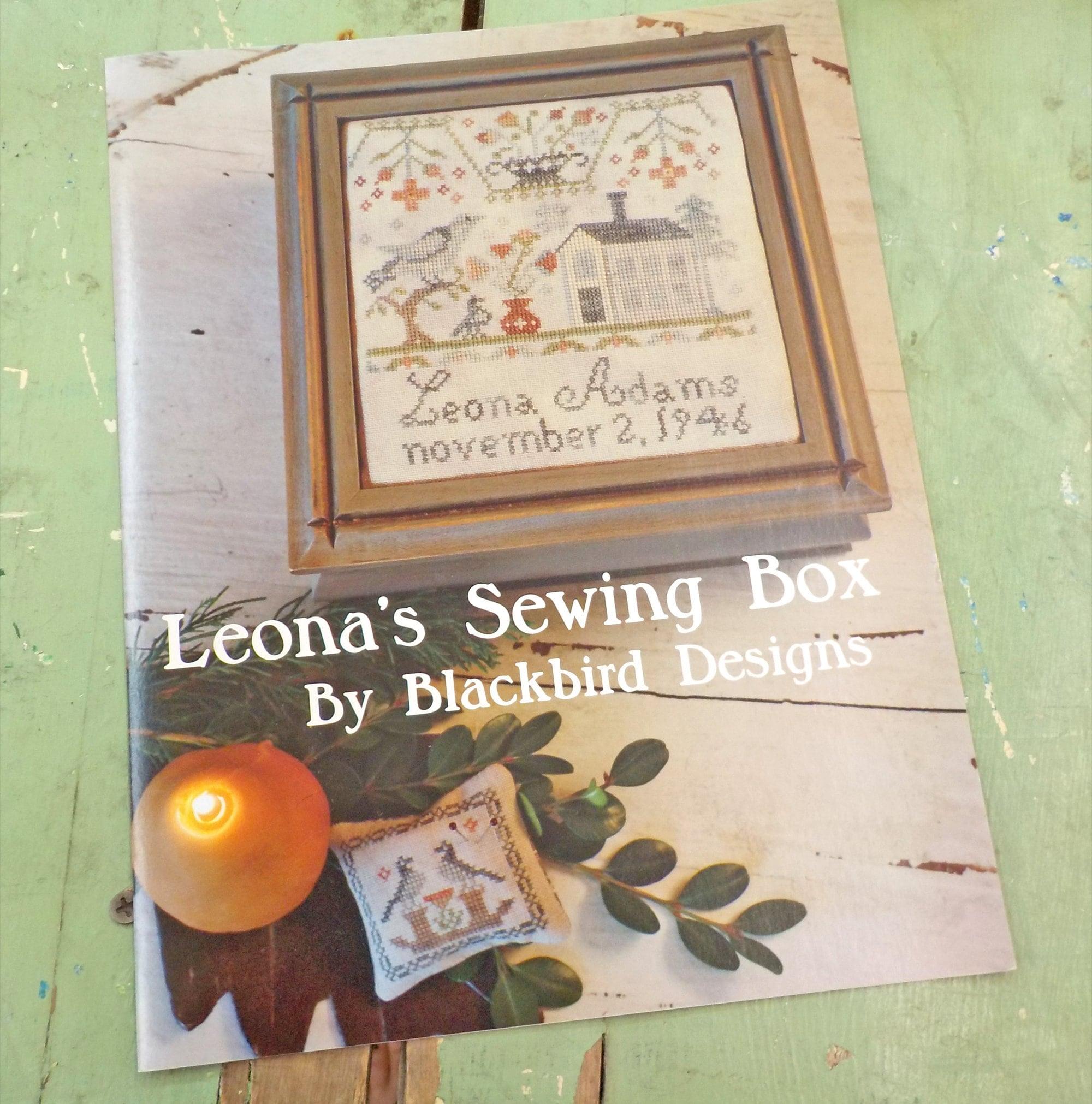 Leona/'s Sewing Box Blackbird Designs Cross Stitch Pattern
