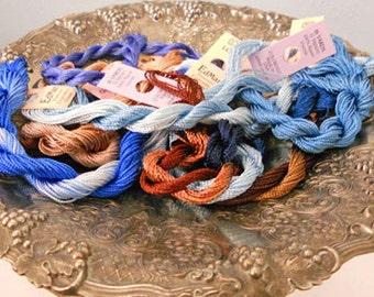 Blueberries & Buttermilk Thread Pack of 10 skeins of Edmar Thread.