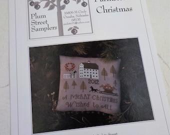 Farmstead Christmas by Plum Street Samplers...cross stitch pattern, Christmas cross stitch, winter cross stitch