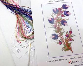 Belle Campanula...EdMar kit #5120...Brazilian embroidery