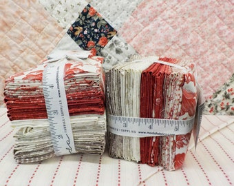 Cranberries & Cream fat 8th bundle by 3 Sisters for Moda Fabrics...34--fat t8hs