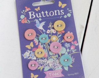 Gardenlife buttons...a Tilda Collection designed by Tone Finnanger...8 buttons