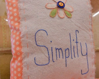 Simplify pillow kit and pattern...designed and pieced by Mickey Zimmer