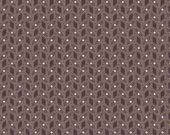 Purple Passion purple boxleaf by Paula Barnes R2248-PURPLE for Marcus Fabrics