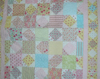 PDF Rosehill Cottage pattern using a layer cake by Mickey Zimmer for Sweetwater Cotton Shoppe