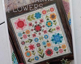 Flea Market Flowers by Lori Holt of Bee in My Bonnet, cross stitch pattern, it's sew emma stitchery