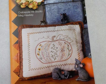 Autumn's Harvest Pumpkin pattern by Meg Hawkey of Crabapple Hill Studio