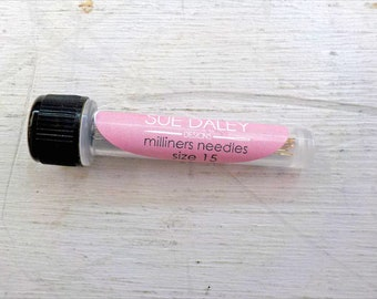 Sue Daley Designs, Milliners needles, size 15, 10 needles