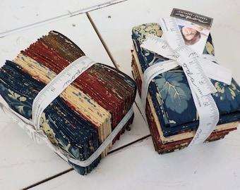 Maria's Sky 1840-1860 fat 8th bundle designed by Betsy Chutchian for Moda Fabrics, 31 fat 8ths