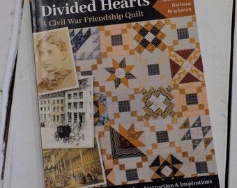 Divided Hearts, A civil war friendship quilt, by Barbara Brackman...civil war quilts, sampler quilt