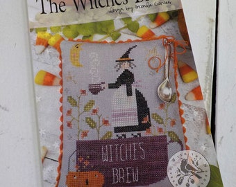 The Witches Brew by Brenda Gervais of With Thy Needle and Thread...cross stitch pattern, halloween cross stitch, autumn cross stitch, witch