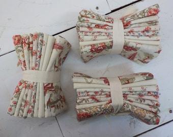 Jardin De Fleurs Pearl fat quarter bundle by French General for Moda Fabrics, 8 fat quarters