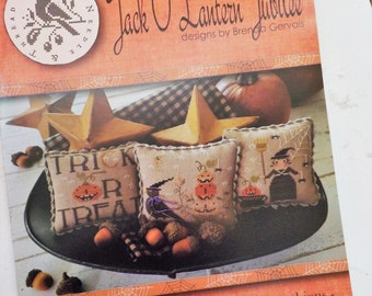 Jack O Lantern Jubilee by Brenda Gervais of With Thy Needle and Thread...cross stitch pattern, halloween cross stitch, autumn cross stitch