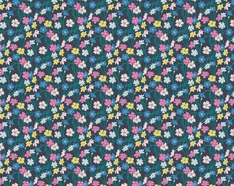 The Deco Dance Collection, Dancing Buttercup A 04775923A, by Liberty fabrics for Riley Blake Designs, Liberty Quilting Cotton